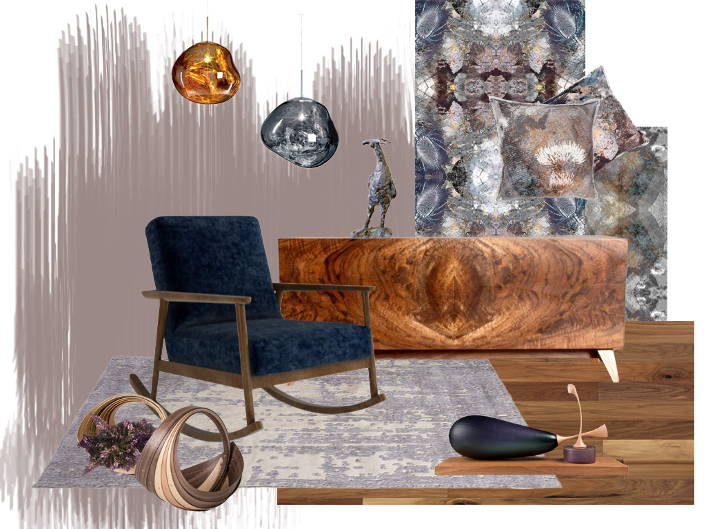 Heart wood mood board - blue