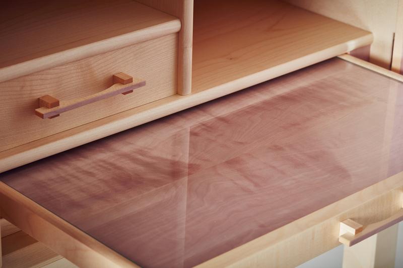 Kevin Stamper - Plum Blossom cabinet interior