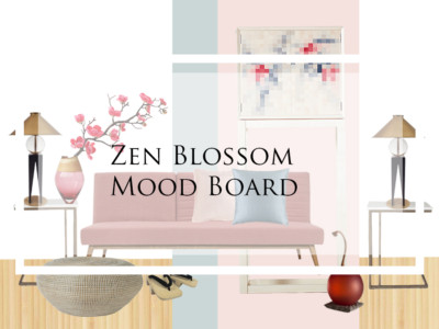 Style and Co Zen Blossom Mood Board