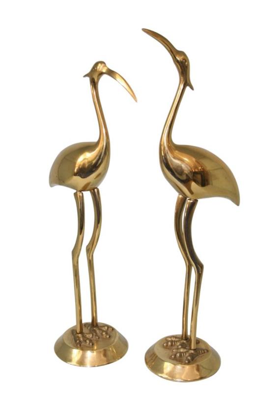 1stDibs 1970's Brass Herons