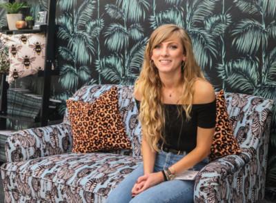 Charlotte Jade - Zebra sofa - Decorex 2018