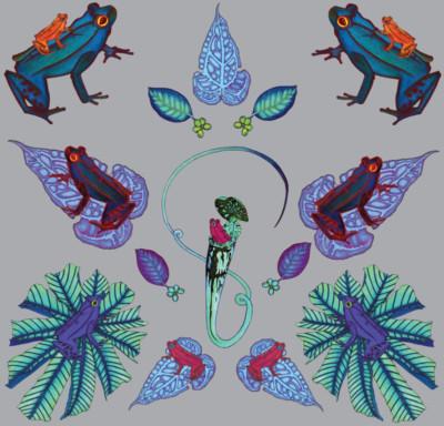 Frog Leaf- Wilful Ink 100%-Design-