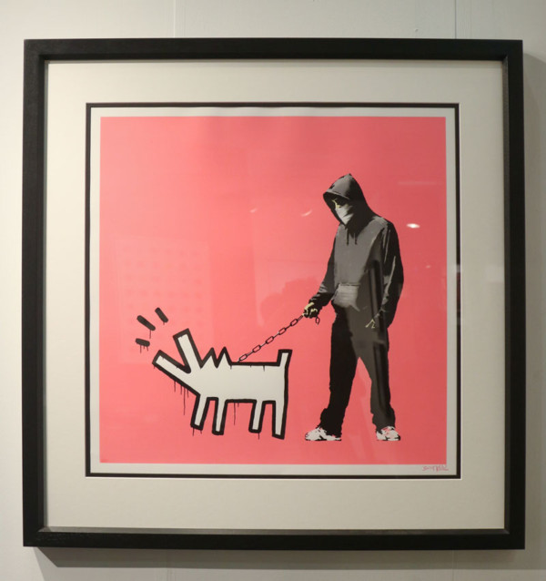 BANKSY Choose your weapon -Gormleys Gallery