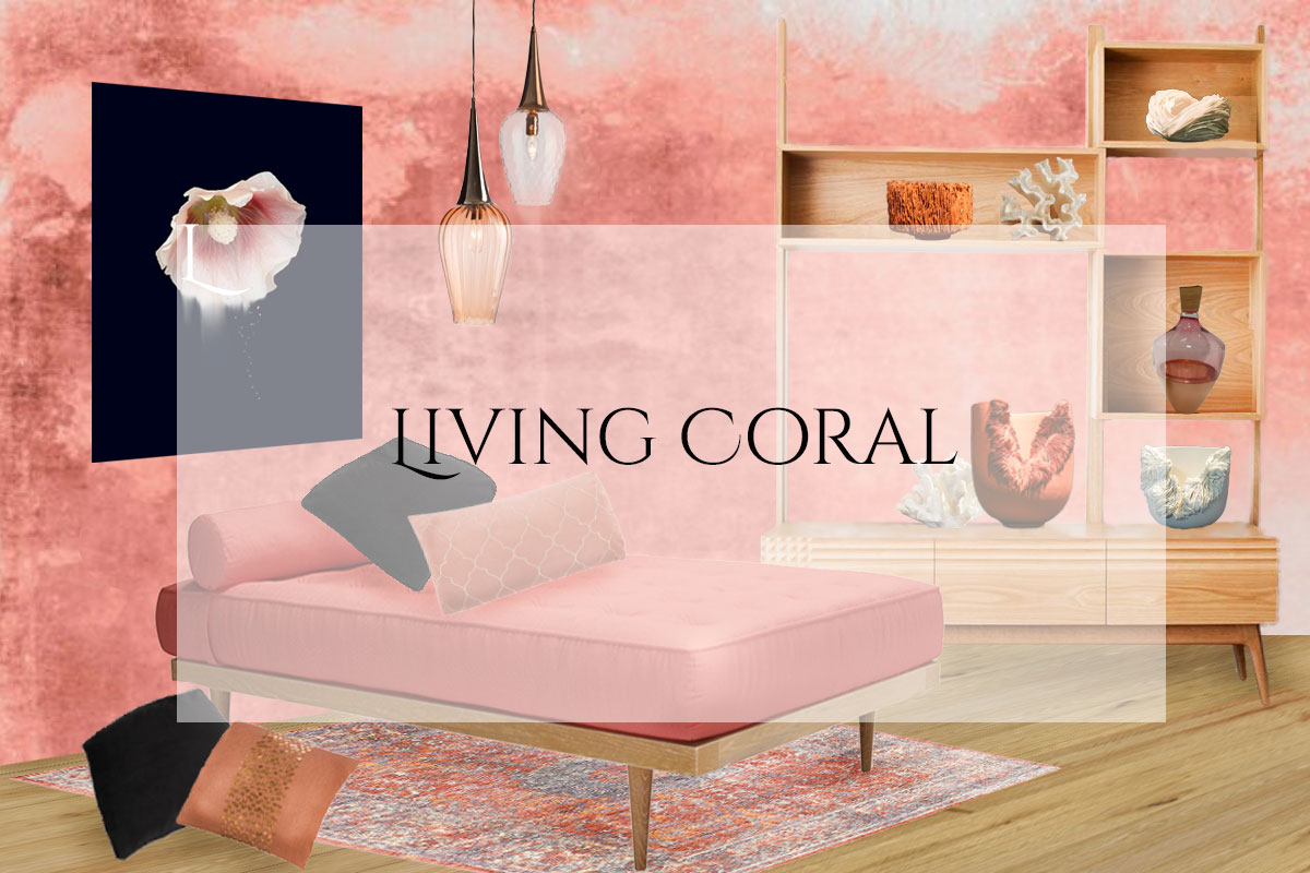 Style&Co Living Coral Mood Board