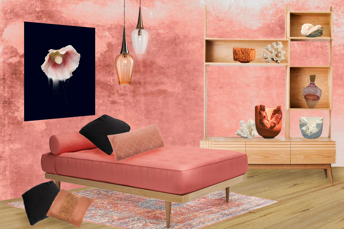 Style&Co - Living Coral Mood Board