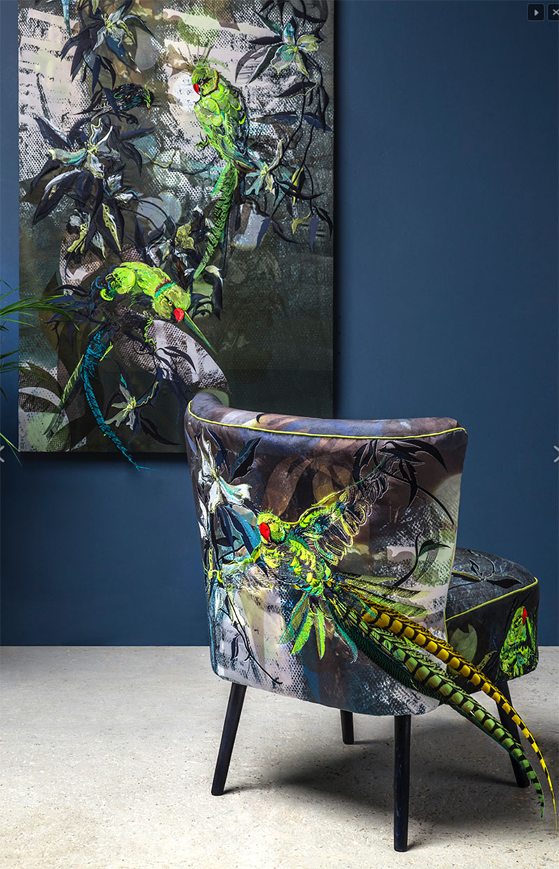 Jacky Puzey - Parakeets chair