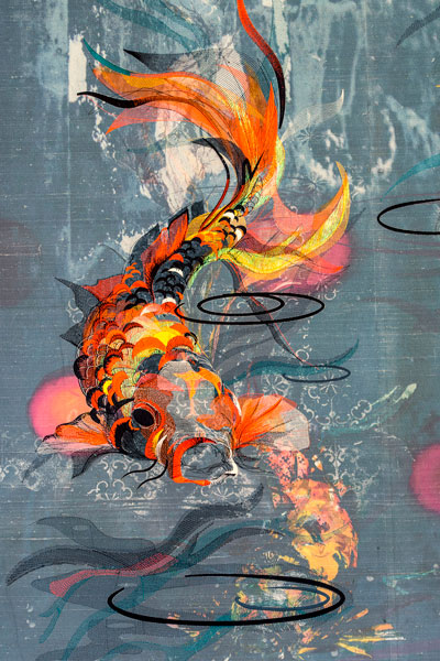 Jacky Puzey - Koi silk wallpaper