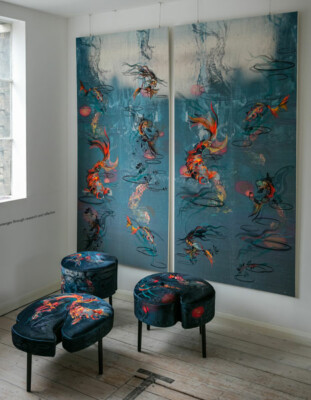Meet the Maker - Jacky Puzey - Koi silk wallpaper