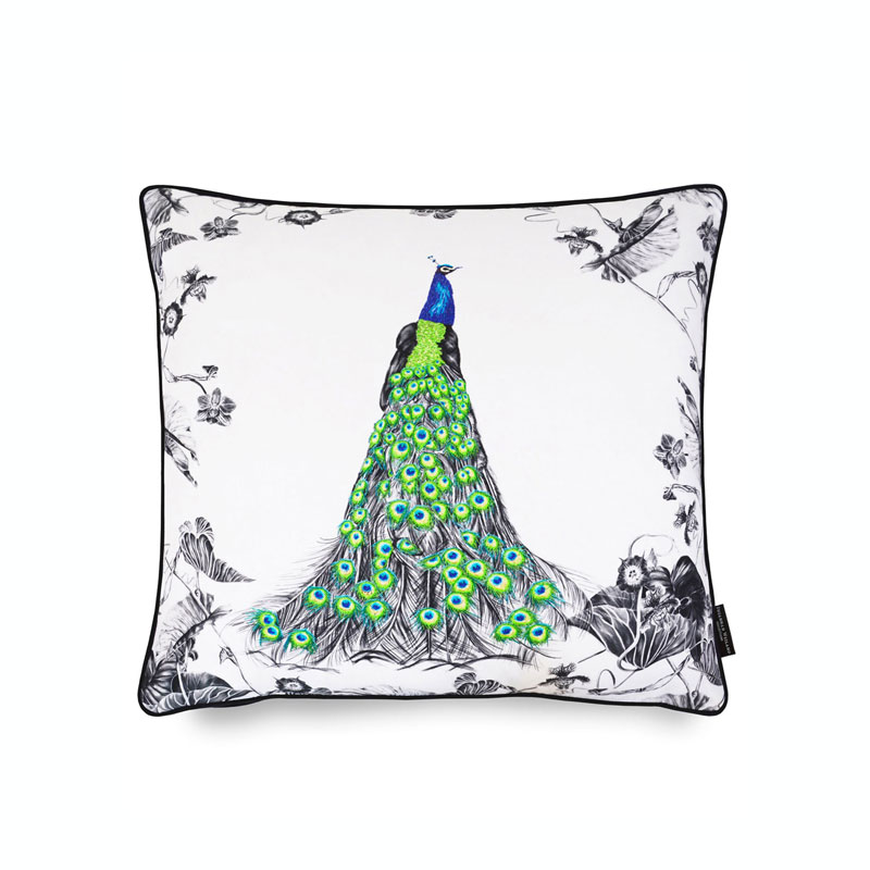 Peacock cushion - Susannah Weiland