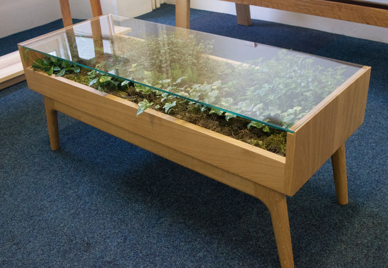 Nick James - Terrarium table - Celebration of Craftsmanship & Design 2019